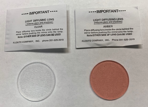 2 Diffusing Lenses Clear & Amber