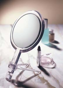 Handheld 2-Sided Mirror with Stand - FL-H Available in 10X & 15X
