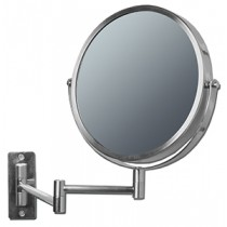 FL-101W-2 10x plus 1x Brushed Nickel Wall Mirror