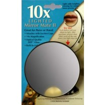 10x Magnification Lighted Mirror MateTM Series - FL-10LMM3